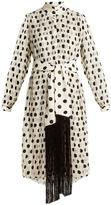 Zimmermann Rife high-neck pleated polka-dot dress