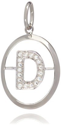 Annoushka White Gold and Diamond D Pendant