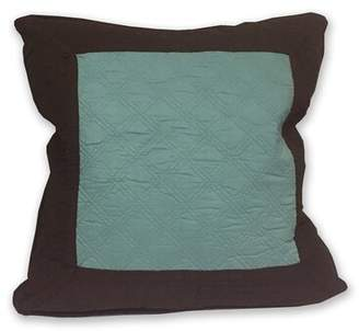 Greenland Home Fashions Brentwood Throw Pillow Home Fashions Color: Blue Surf