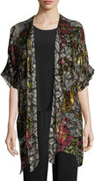Caroline Rose Double Printed Devore Caftan Cardigan