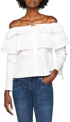 Endless Rose Women's Madison Blouse, (White 103), (Size:Small)