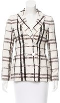 Derek Lam 10 Crosby Plaid Double-Breasted Coat w/ Tags