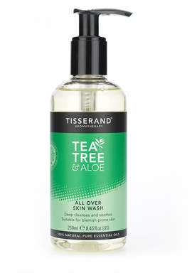 Tisserand Aromatherapy U.K. Aromatherapy Tea Tree & Aloe All Over Skin Wash 250ml