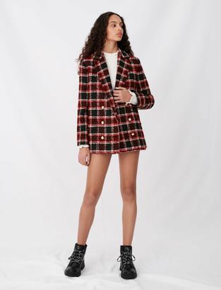 Maje Tweed-style checked jacket