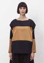 Issey Miyake light brown fold wool shirt