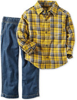 Carter's 2-Pc. Plaid Shirt & Jeans Set, Baby Boys (0-24 months)