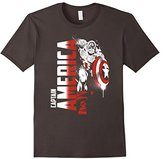 Marvel Captain America Avengers Paint Splat Graphic T-Shirt