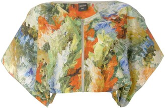 Jean Paul Gaultier Pre Owned Abstract Print Cropped Blouse