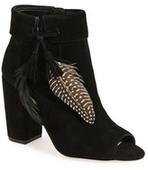 Jessica Simpson Women's 'Kailey' Feather Charm Peep Toe Bootie