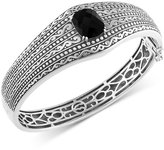 Effy Eclipse by Onyx (4-9/10 ct. t.w.) Decorative Hinged Bangle Bracelet in Sterling Silver