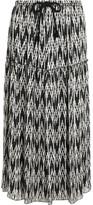 Isabel Marant Glenn Jacquard Midi Skirt - Black