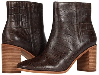 Madewell Malone Square Toe Bootie (Dark Coffee Croco) Women's Shoes