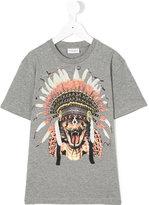 Marcelo Burlon County Of Milan Kids - feather headdress T-shirt - kids - Cotton - 2 yrs