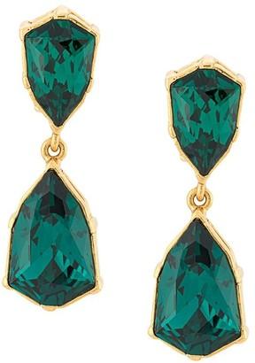Oscar de la Renta Crystal Drop Earrings