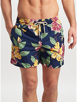 Polo Ralph Lauren Traveller Hibiscus Print Swim Shorts, Blue