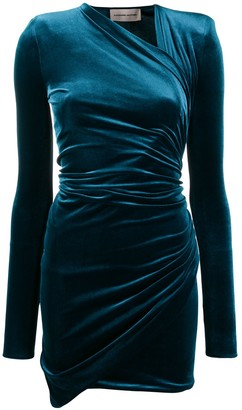 Alexandre Vauthier velvet wrap dress