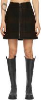 Thumbnail for your product : Ganni Black Wool Zip Miniskirt
