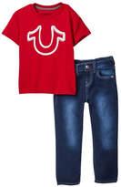 True Religion 2-Piece Tee & Pant Set (Toddler Boys)