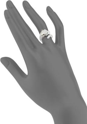 Effy Panther Sterling Silver, 18K Rose Gold Diamond Ring