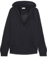 Brunello Cucinelli Hooded Ribbed-knit Sweater - Navy