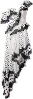 Zimmermann one shoulder polka dots dress