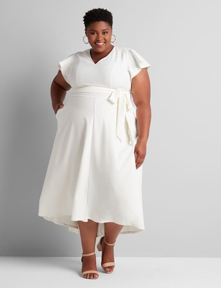 Lane Bryant Short-Sleeve Lena High-Low Midi Dress