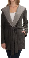 Max Studio Belted Wrap Coat - Hooded (For Women)