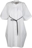 Sacai White Cotton Blend Dress