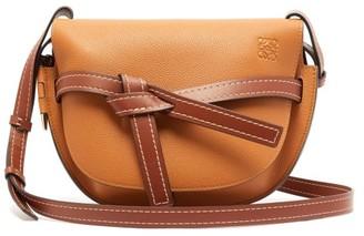 Loewe Gate Small Leather Cross-body Bag - Tan Multi