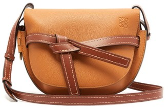 Loewe Gate Small Leather Cross-body Bag - Womens - Tan Multi