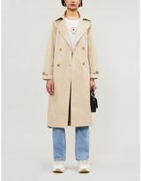 Tonies Contrast-panel cotton-gabardine trench coat