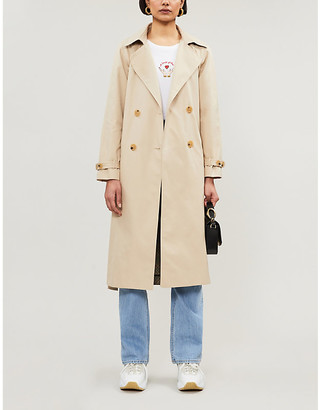 Tonies Contrast-panel cotton-gabardine trench coat