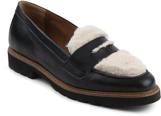 Andre Assous Porsha Lug Sole Leather Loafer