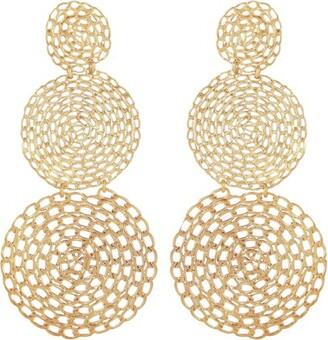 Gas Bijoux Onde gourmette double earrings