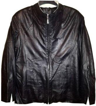 Roberto Cavalli Black Leather Leather Jacket for Women Vintage