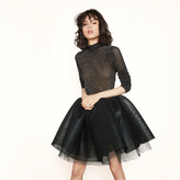 Maje Coated tulle skirt