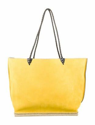 Altuzarra Large Suede Tote Yellow