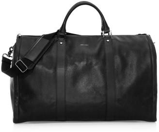 hook + ALBERT Project 11 Leather Garment Weekender