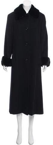 Giuliana Teso Fur-Trimmed Cashmere Coat