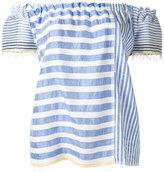 Lemlem striped off-shoulder blouse - women - Cotton/Acrylic - L
