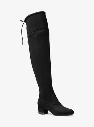 Michael Kors Jamie Stretch Over-The-Knee Mid-Heel Boot
