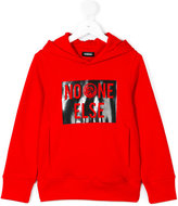Diesel hooded slogan sweatshirt - kids - Cotton - 6 yrs