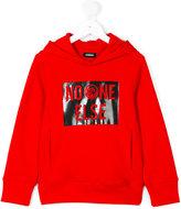 Diesel hooded slogan sweatshirt