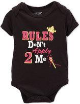 Sweet & Soft Black & Pink 'Rules Don't Apply 2 Me' Bodysuit - Infant