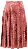 Glamorous Pleated skirt raspberry velvet