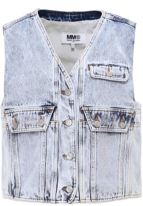 MM6 MAISON MARGIELA Cropped Denim Vest
