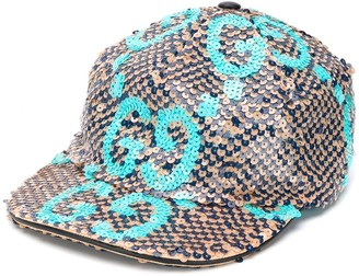 Gucci sequinned GG cap