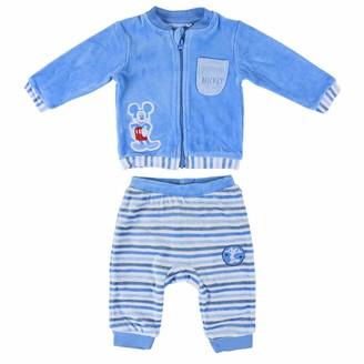 ARTESANIA CERDA Baby_Boy's Conjunto 2 Piezas Velour Mickey Clothing Set
