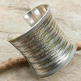 Artisan Crafted Sterling Silver Cuff Bracelet, 'Royal Princess'