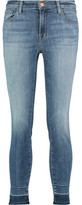 J Brand 835 Mid-Rise Faded Skinny Jeans